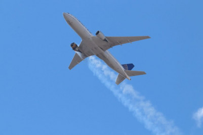 Joined Airlines grounds all Boeing 777s after motor disappointment dropped flotsam and jetsam on Broomfield