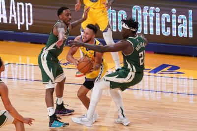 NBA roundup: Warriors edge Giannis-less Bucks
