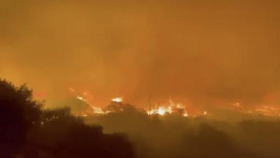 Silverado Canyon Burns Again As Bond Fire Erupts Under High Winds